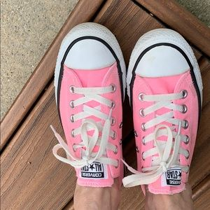 Hot Pink Converse All Star, woman's size 7